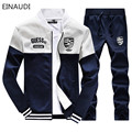 EINAUDI Mens Sweat Suits  Brand Mens Tracksuits Sets Jogger Jacket + Pants Sporting Suit Hip Hop Sweatshirts Sudaderas Hombre