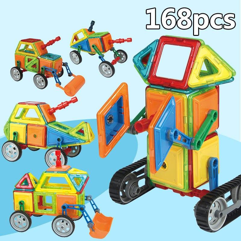 Magnetic Blocks Toys for Children Magnet Construction Blocks Set Designer Educational Bricks Medium Size Magnetic Toy for Enfant