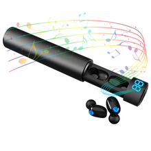 Auriculares táctiles 5,0 Bluetooth inalámbricos Binaural Mini Invisible deportes correr Ultra pequeños en Auriculares auriculares digitales Unisex