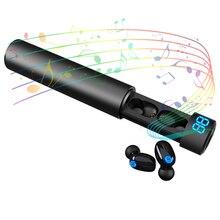 Toque 5.0 Binaural fone de Ouvido Bluetooth Sem Fio Mini Invisível Sports Correndo Ultra Pequeno Em fones de ouvido Tampões de Ouvido Unisex Digital