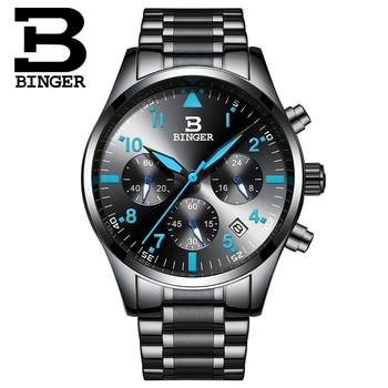 Classic Useful 3 Eyes Men Multi Functional Chronograph Watches Sports Wrist watch Qaurtz Stainless Steel Analog Watch Calendar