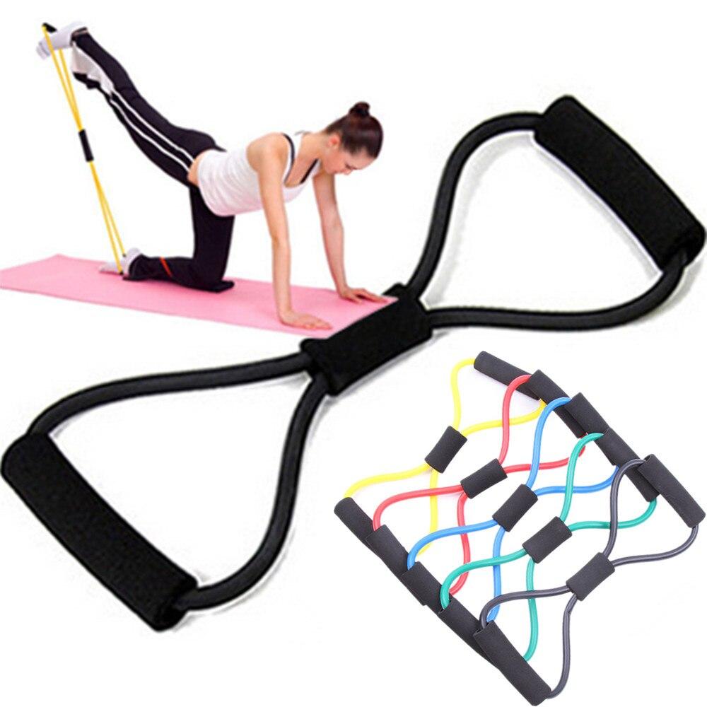 8-shaped Göğüs Geliştirici Direnç Gruplar Lateks çekme halat yoga antreman spor ekipmanları erkek kadın Zayıflama Ürünü
