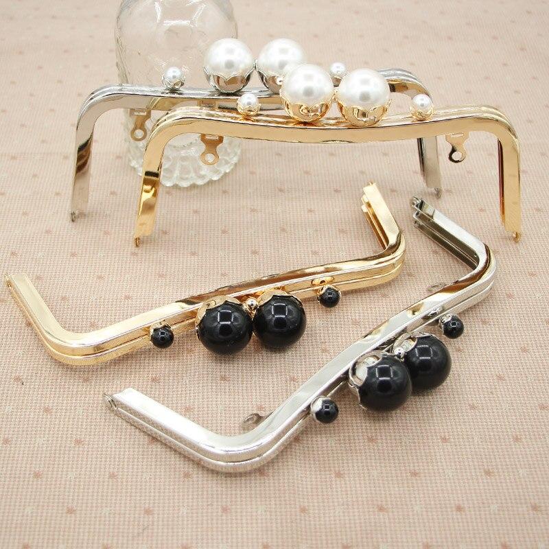 Size 20 CM Pearl Color Big Ball Clasp Metal Purse Frame Bag Hanger Handle  DIY Accessories 314cdb5b43c5