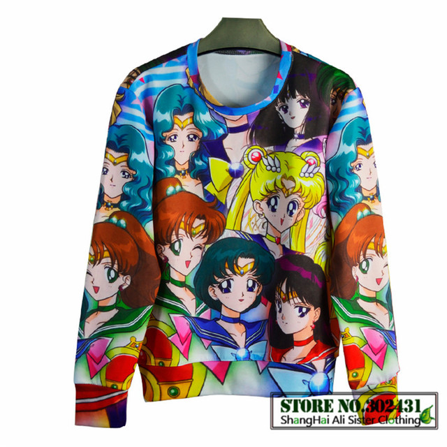 Sailor Moon sweatshirt women's 3d hoodies