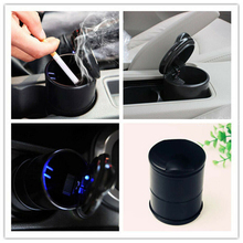 цена на Smokeless Smoke Cup Holder Car Auto Ashtray Luxury Car Ashtray with LED Light Cigarette Smoke Travel Remover Ash Cylinder Car