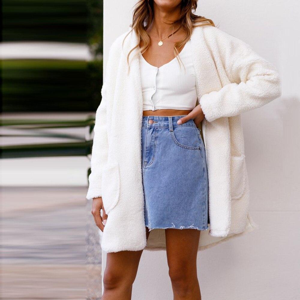 Fluffy Fleece Women Fur Faux Cardigan OverCoat