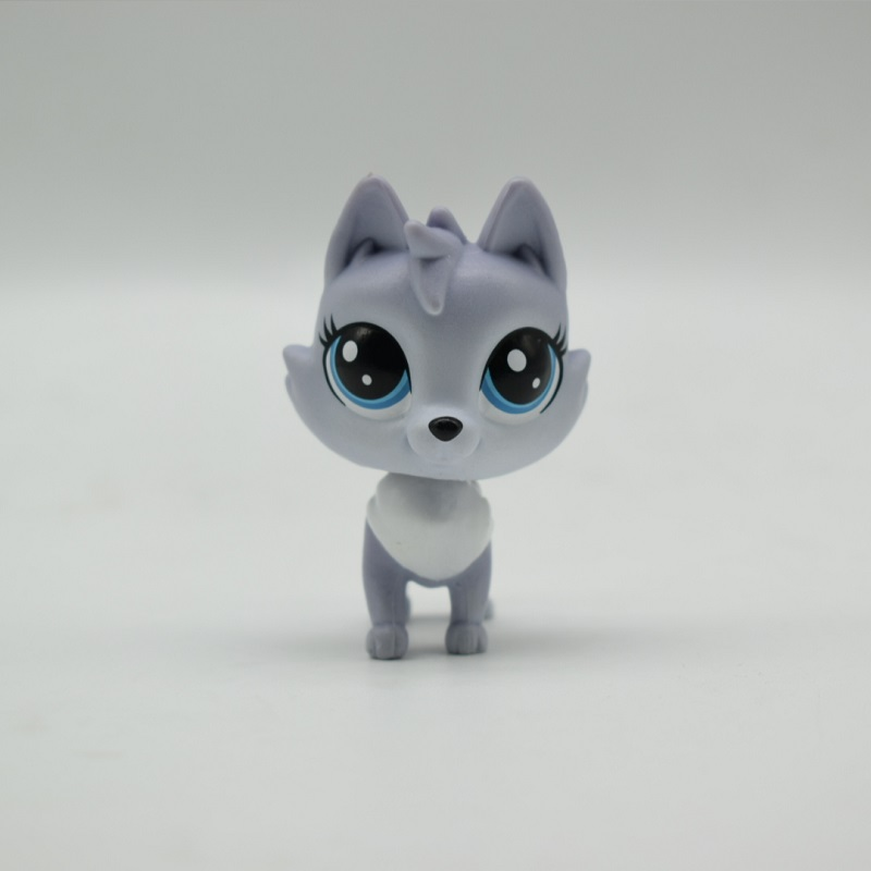 LPS Toy Shop Sparkle Eyes Light white wolf Action Figure animal Toys for Children Birthday Gift 5-6cm lps new style lps toy bag 32pcs bag little pet shop mini toy animal cat patrulla canina dog action figures kids toys