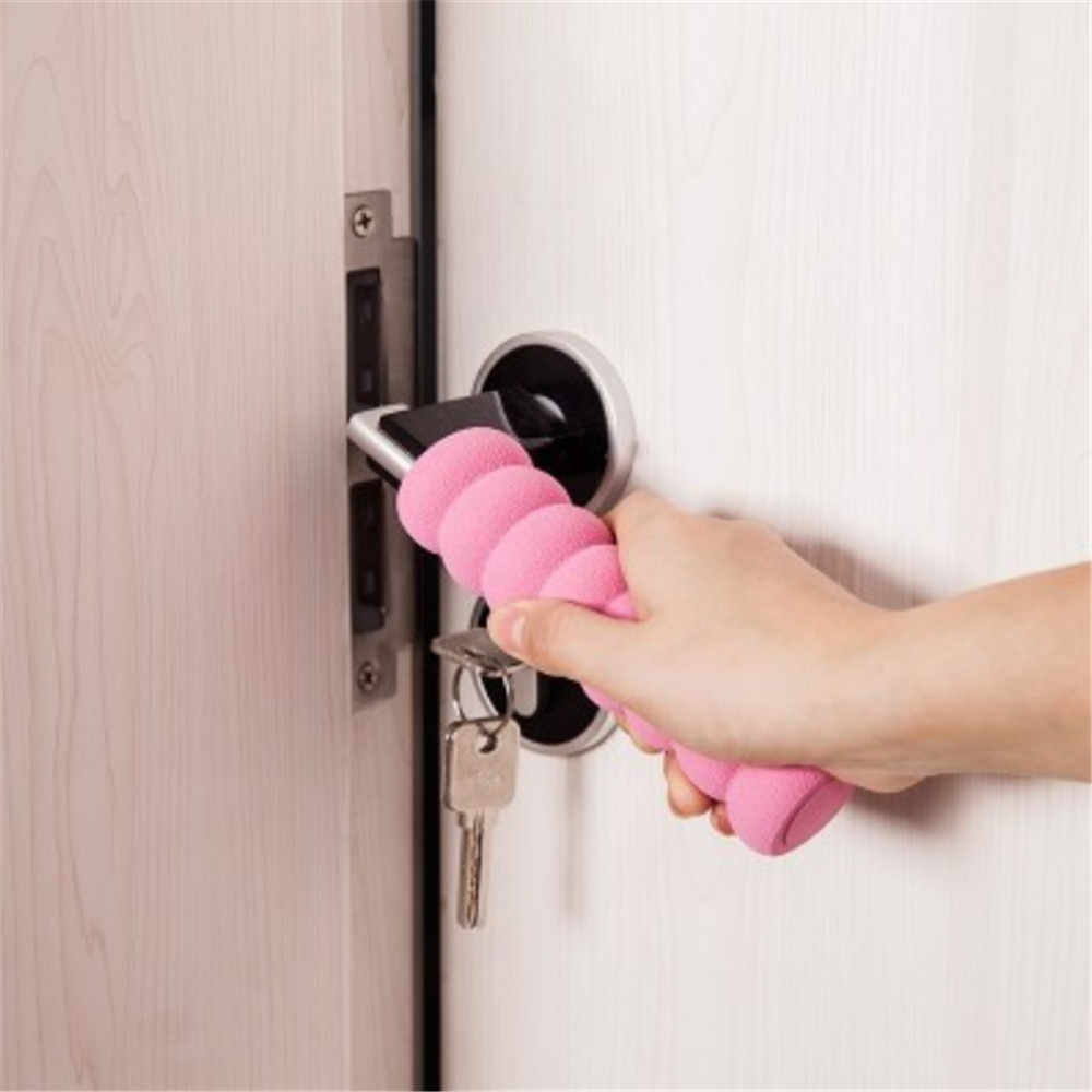 Защитный чехол для детской комнаты с защитной ручкой, избегайте столкновений, чехлы для дверных ручек, спальни, кухни, ванной комнаты 1