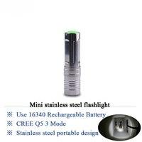 Cree Q5 Led Lamp 16340 Rechargeable Penlight Mini Flashlight Lantern Torch