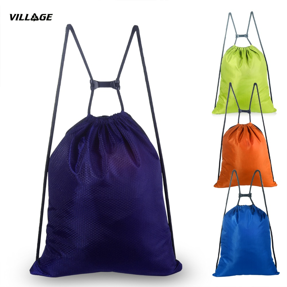VILLGE Waterproof Sporty Sling Backpack bags for Women Men Drawstring Bags High-Quality Fashion