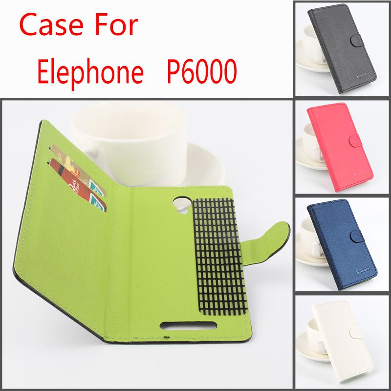 Luxury For Elephone P6000 Case PU Leather Flip Wallet Case for Elephone P6000 High Quality Fashion Hit Color Phone Bag Cover