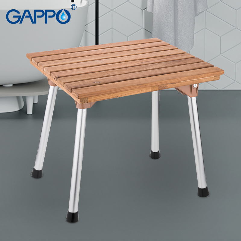 GAPPO Bathroom Chairs & Stools folding bath chair solid wood shower seat stainless steel chair adjustable folding chairGAPPO Bathroom Chairs & Stools folding bath chair solid wood shower seat stainless steel chair adjustable folding chair
