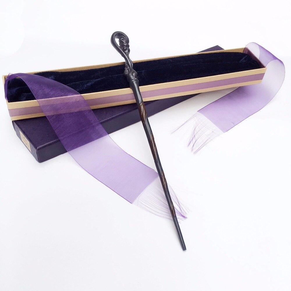 New Arrive Metal Iron Core Fleur Delacour  Wand  HP Magic Magical Wand  Elegant Ribbon Gift Box Packing