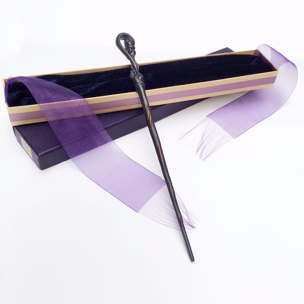 New Arrive Metal Iron Core Fleur Delacour Wand Harry Potter Magic Magical Wand Elegant Ribbon Gift Box Packing 2style cosplay albus dumbledore play magical magic wand gift in box metal core harry potter magical wand