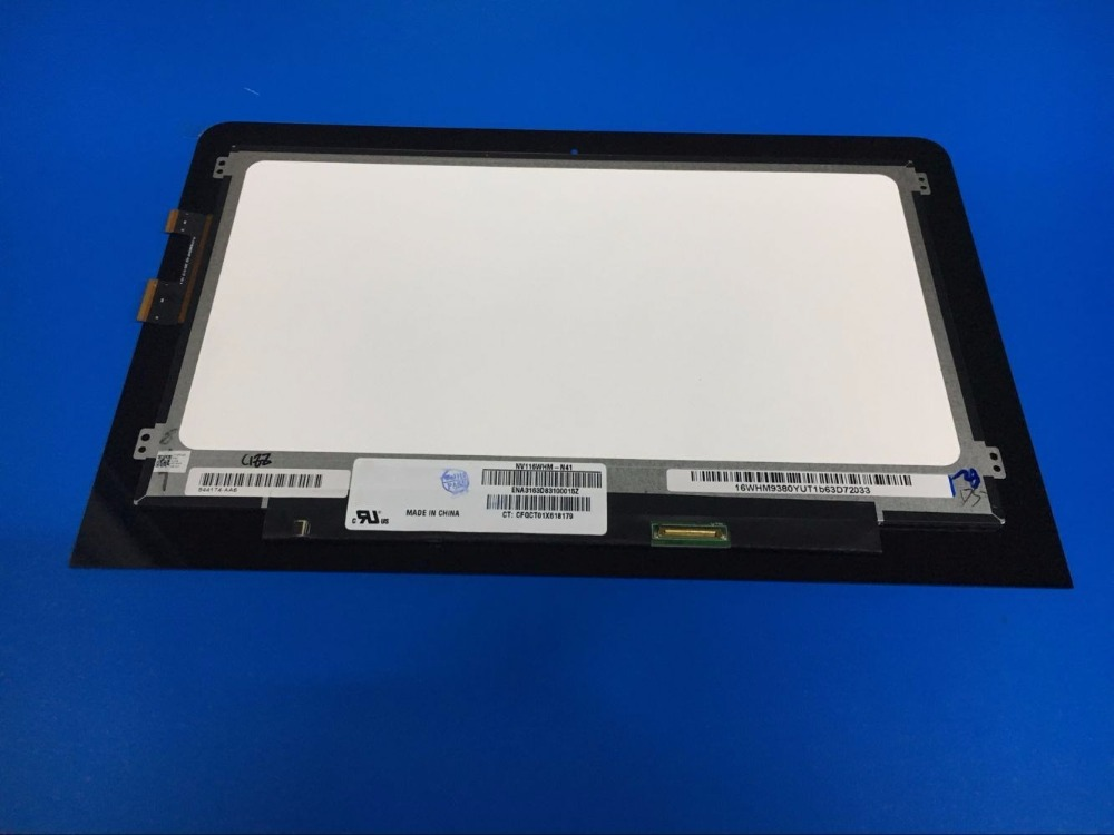 11.6 inch LCD Touch Screen For HP Pavilion X360 M1-U 11-U003NA S/N: 8CG6253Z6C 1366X768 Display Digitizer Assembly + Frame 11 6 inch laptop screen assembly lcd led display touch glass panel digitizer for hp pavilion x360 11k 11 k