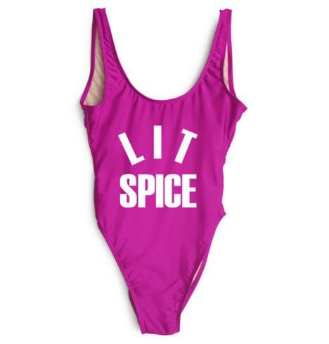 Minnelijk S-xl Vrouwen Sexy Lit Spice Bodysuit Een Stuk Badmode Badpak Beachwear Jumpsuit Open Low Back Een Stuk Suits