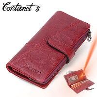 Free Engrave Women Clutch Wallets Genuine Cowhide Leather Famous Brand Designer Female Long Handbag Removed Zipper