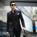 Envío gratis nuevo 2015 hombres del juego delgado , además de terciopelo grueso invierno cálido estilo coreano hombres de negocios traje chaquetas trajes de boda para hombre