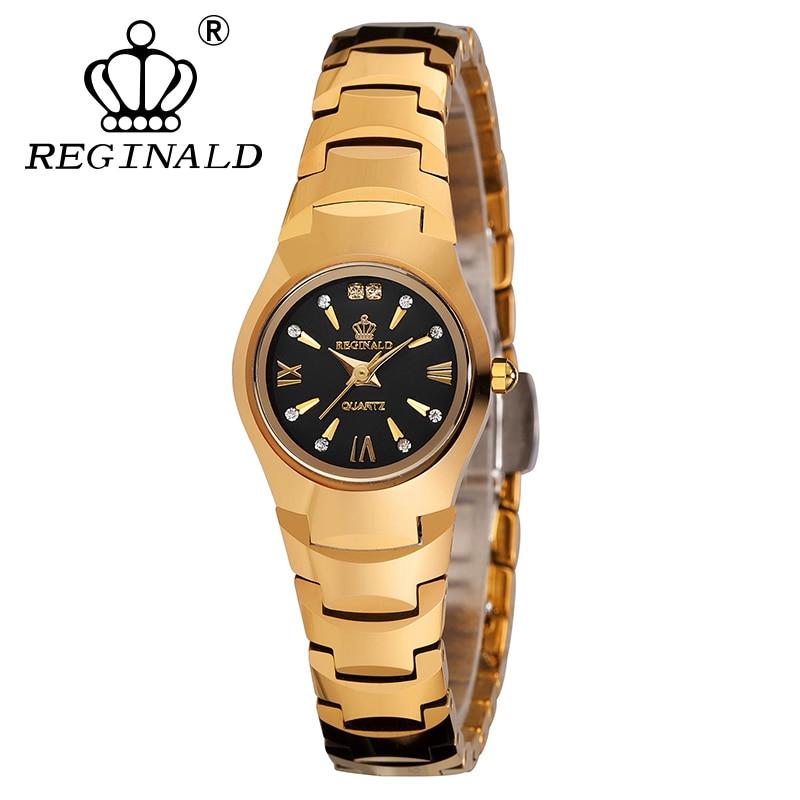 REGINALD marque montre Quartz dames or Rose mode montres de poignet diamant Tungste en acier femmes montre-bracelet filles femme horloge Hou