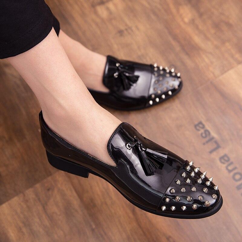Formal Shoes Men Outdoor Classic Tassel Loafers Men Shoes Leather Sepatu Slip On Pria Shoes Men Elegant Luxury Dress Sepatu Pria