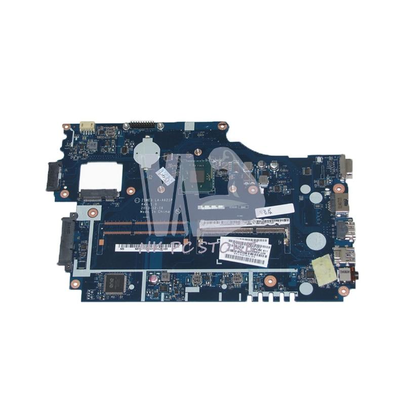 NOKOTION NBY4711002 NB.Y4711.002 For Acer aspire E1-510 E1-510-2500 Laptop Motherboard Z5WE3 LA-A621P N2820 CPU DDR3 nokotion laptop motherboard for acer aspire e1 521 e300 cpu onboard ddr3 nb y1g11 002 nby1g11002 la 8531p warranty 60 days
