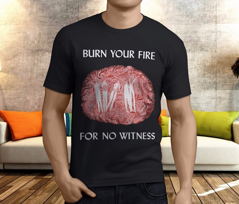 Cheap Graphic T Shirts MenS Crew Neck New Angel Olsen Burn Your Fire For No Witness Short Sleeve Office Tee