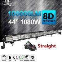 CO LIGHT 8D 4 Row 44 LED Light Bar 1080W Combo Beam Led Bar Work Light 12V 24V For 4x4 Truck ATV Offroad Uaz Auto Driving Light