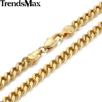 6MM CUSTOMIZE SIZE18 36INCH Curb Cuban 18K Gold Filled Necklace MENS Boys Chain DIY SIZE GN143