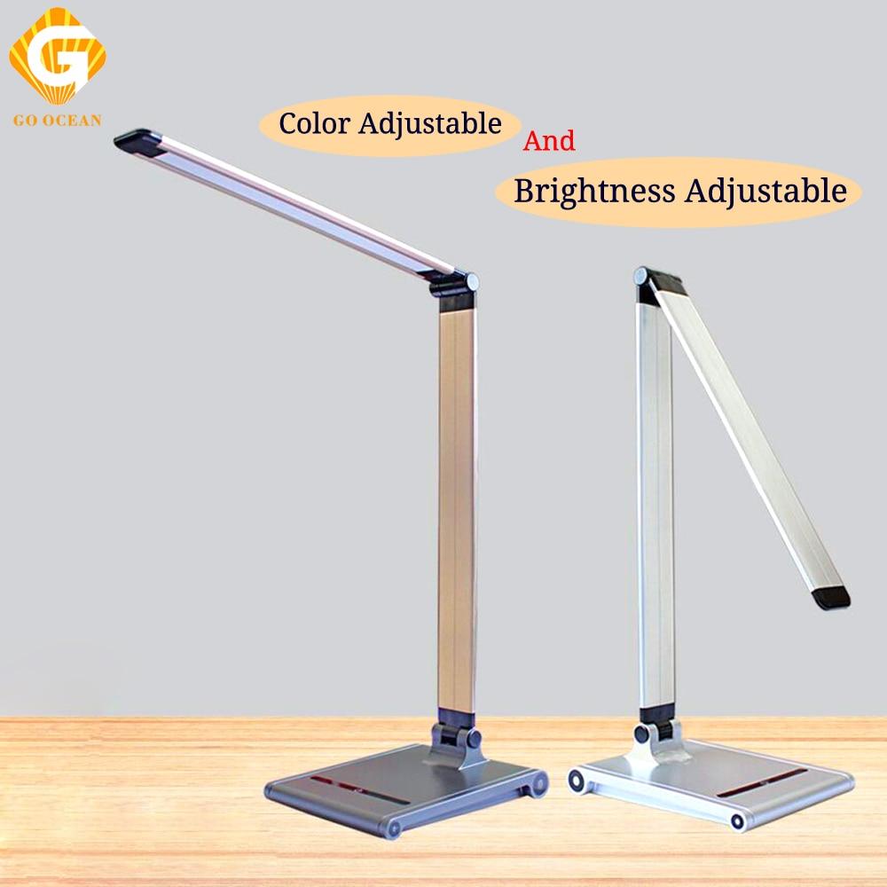 GO OCEAN LED lampes de Bureau lampe de Table USB Bureau livre col de cygne lit variateur LED lampe de Bureau lampes de Table pour chambre éclairage Bureau