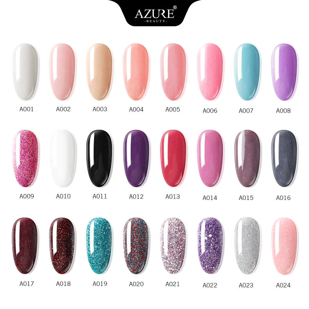 Azure Kecantikan 16 Buah/Banyak Warna Gradien Kuku Bubuk Glitter Mencelupkan Bubuk Nail Art Set Base Top Gel Penggerak Sikat Saver kit