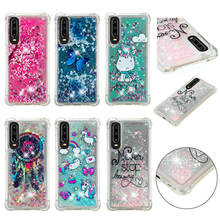 For Huawei P30 Pro Case Dynamic Quicksand Liquid Glitter Silicone Soft TPU Cover Coque P 30 Phone Cases Capa
