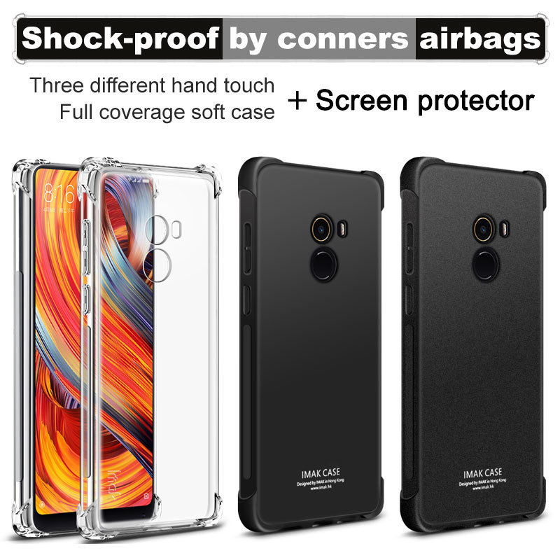 Xiaomi Mi Mix 2 Case Mi Mix 2 Cover IMAK Shock-resistant Shockproof Silicone Soft Transparent TPU Cover Case For Xiaomi Mi Mix2