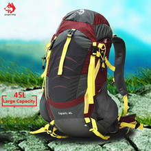 Jungle King Высокое качество Открытый Кемпинг Альпинизм сумка на плечо водонепроницаемый спортивный рюкзак 45л походная сумка