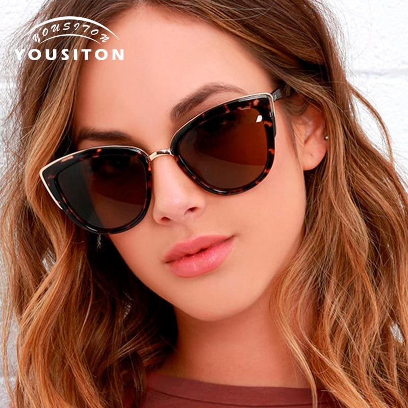 YOUSITON Cat Eye Sunglasses Vintage Shades For Women Sun glasses Brand fashion Female Cateye sunglass Classic oculos de sol