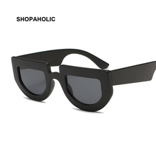 Flat Top Fashion Women Sunglasses Brand