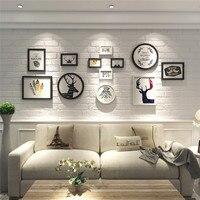 Sıcak Satış 12 Adet Avrupa Stype Moda Duvar Resim Çerçeveleri Seti Basit Sanat Tasarım Ev Dekorasyon Ahşap Fotoğraf Çerçevesi Set
