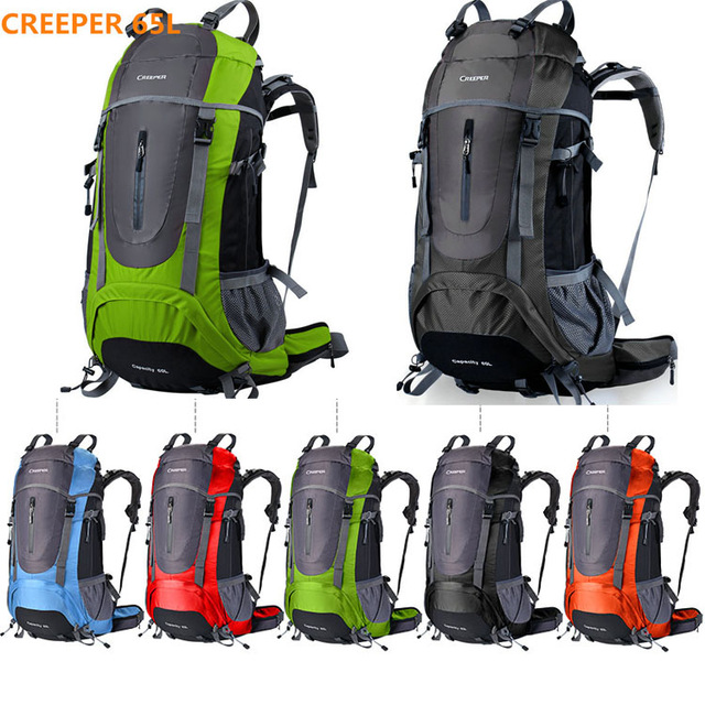 ФОТО Brand Creeper 45L -65L waterproof women and men outdoor sport travel backpack for climbing camping hiking cycling laptop bag