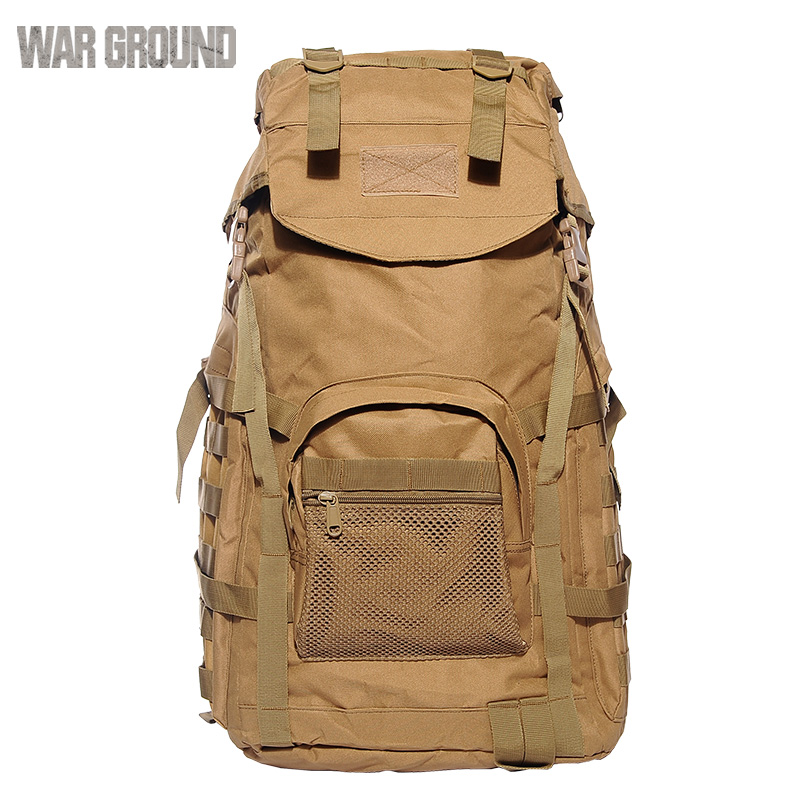 Men 39 s outdoor backpack tactical backpack camouflage large capacity marching backpack in Climbing Bags from Sports amp Entertainment