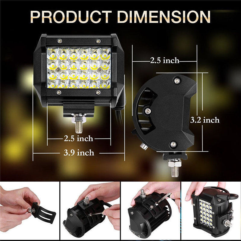 72W led work light