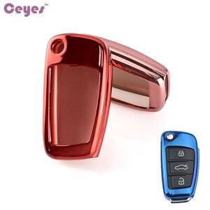 Image 4 - Ceeyes funda protectora de TPU suave para coche, carcasa protectora para Audi S8, A6, A6L, Q5, S5, S7, A4, A4L, A5