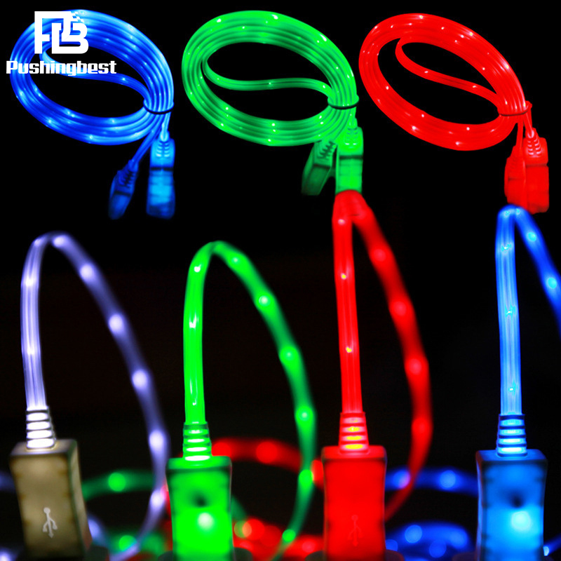 Pushingbest Light Up Charging Cable LED Charger
