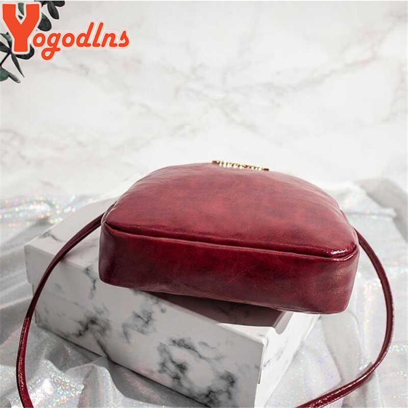 Yogodlns vente chaude Mini coquille sac à bandoulière rétro huile solide PU cuir bandoulière sac Messenger dames Chic téléphone sacs à main sac à main