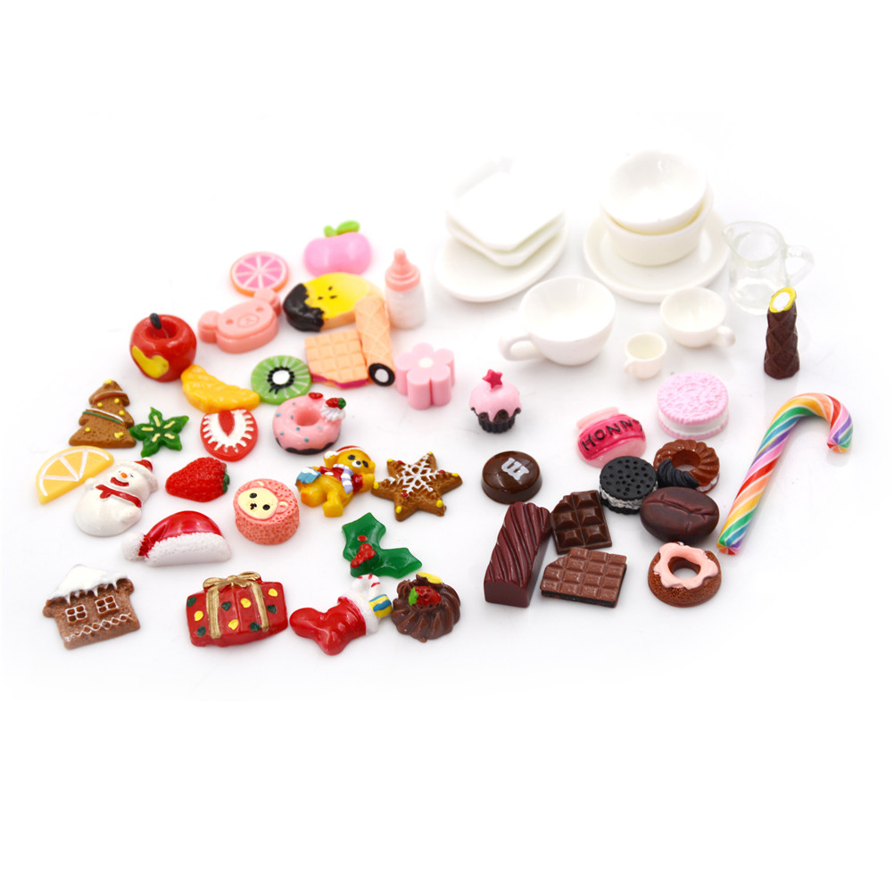 10pcs/Lot Mini Kawaii Resin Colorful Flatback Cabochons DIY Funny Craft Kit Supplies Decoration Child Pretend Play Toy