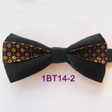 2015 YIBEI Coachella Ties Orange Bow Ties Tuxedo Checked Bowtie Adults With  Black Bottom Silver Small 7af2441c2f95