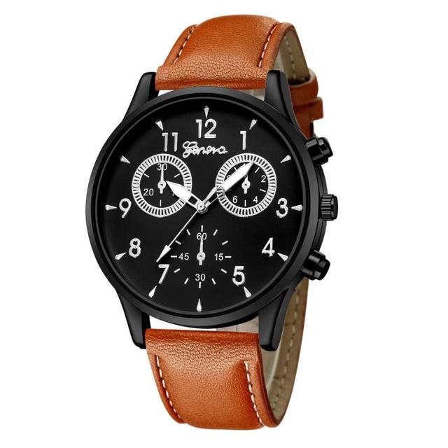 #5001 Leisure High Quality Man Watch Fashion Men's Leather Military Casual Analo