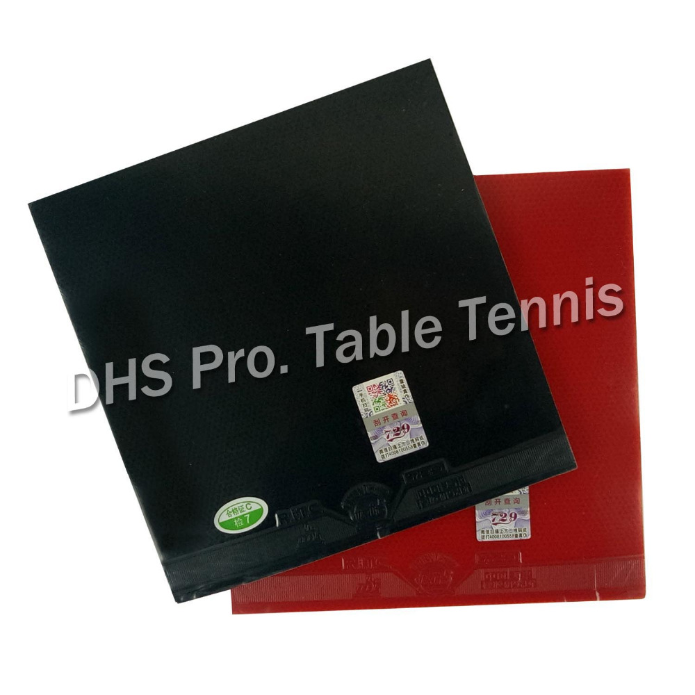 2 Pieces Of RITC 729 Friendship General A Pair Rubber 1 Red And 1 Black  Pips-in Table Tennis  Pingpong Rubber With Sponge 2.2mm
