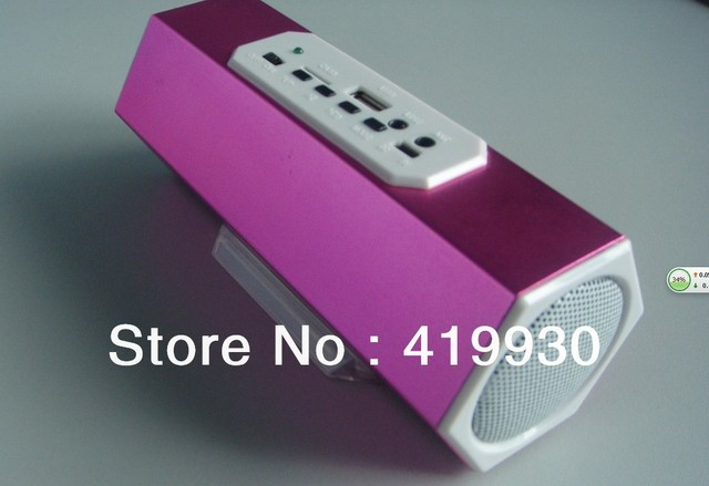Free shipping The Latest  stereo Speaker   USB player / Radio FM/ small TF Card Built-in rechargeable li-ion battery