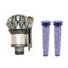 Dla Dyson V7 V8 odpylacz próżniowy separacji cyklonów wkład do filtra próżniowe części do czyszczenia 3 sztuk