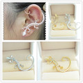 New ear hook Imitation diamond Gecko lizard stud for women girl cool earring E2412