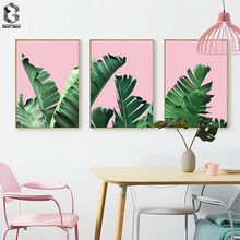 Scandinavian Green Plant Leaf Wall Art Canvas Posters Nordic Style Prints Painting Decorative Pictures Modern Home Decoration(China)
